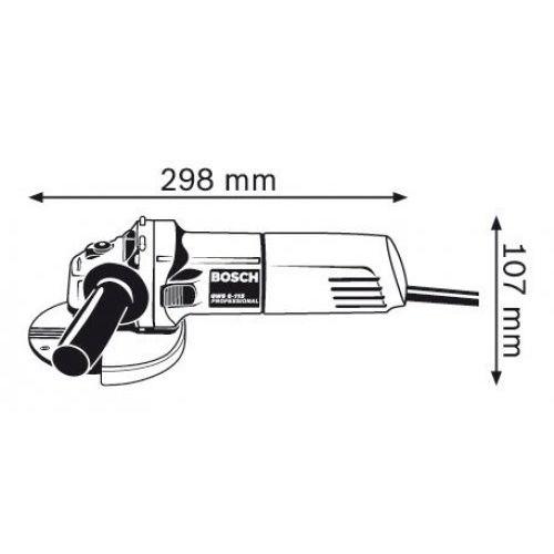 AMOLADORA ANGULAR BOSCH 4 1/2 GWS 6-115 670W 1375