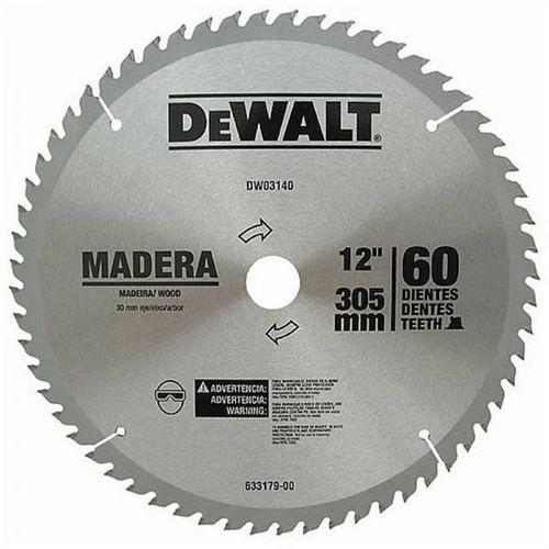 HOJA DE SIERRA DEWALT 12  60DTES. DW03140