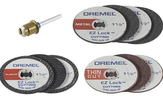 KIT DISCOS DE CORTE DREMEL C/MANDRIL EZ LOCK EZ728