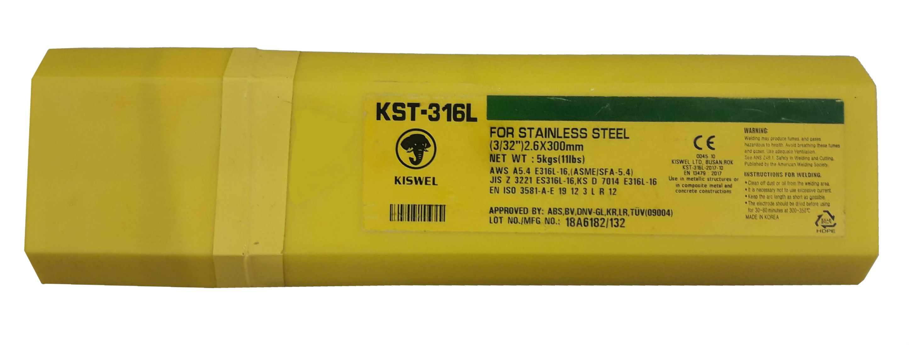 ELECTRODOS KISWEL 2.60MM 13A ( X KG) E316