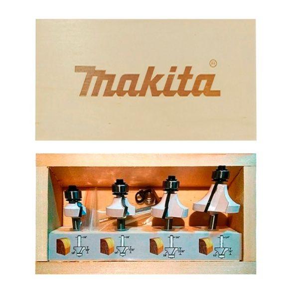 """SET DE FRESAS MAKITA D-53562 1/4"""" 4 PIEZAS"""